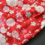 画像2: [子供甚平] 桜に蝶 赤 (2)