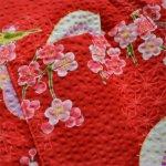 画像4: [子供甚平]傘と梅(赤) (4)