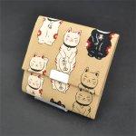 画像3: [猫シリーズ]福あつめ 四角小銭入れ (3)