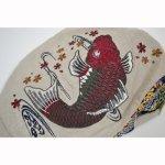 画像4: 【帽子】 刺繍ハンチング 紅鯉桜/オフ (4)