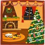画像1: 【小風呂敷】【三毛猫みけのゆめ日記】 クリスマス (1)