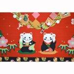 画像2: 【小風呂敷】【四季彩布】 お正月 招き猫 (2)