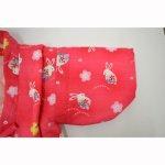 画像3: 【BABY】 子供はんてん(どてら) うさぎ柄(ピンク) (3)