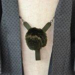 画像1: 【紳士羽織紐】 正絹 綾織り グリーン (1)