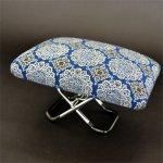 画像1: 【正座用折り畳み椅子】健康らくっこ椅子(大) 紺 (1)