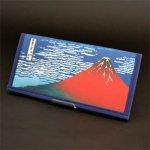 画像1: 【財布】【葛飾北斎】 不織布 浮世絵財布 赤富士 5個セット (1)