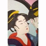 画像2: 【財布】 不織布 浮世絵財布 鏡美人 5個セット (2)