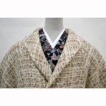 画像2: 【和装コート】 ウールへちま衿コート  (2)