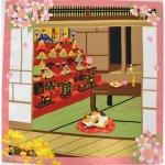 画像1: 【小風呂敷】【三毛猫みけのゆめ日記】 雛祭り 🎎 (1)