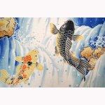 画像2: 【小風呂敷】 鯉の滝登り (2)