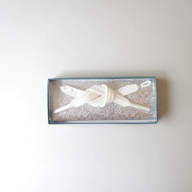 画像1: 「正絹」女性用羽織紐(白) (1)