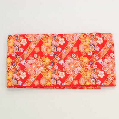 祝帯・袋帯 オレンジ花