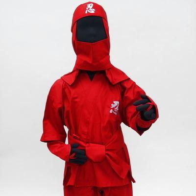 忍者スーツ6点セット(110cm、130cm、150cm)正面