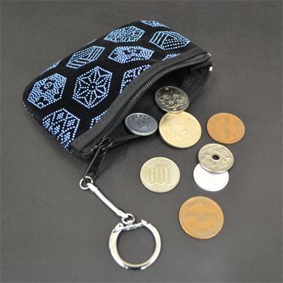 画像1: [印傳調]キーリング付き小銭入れ※柄はおまかせになります。※小銭は付属しません。 (1)