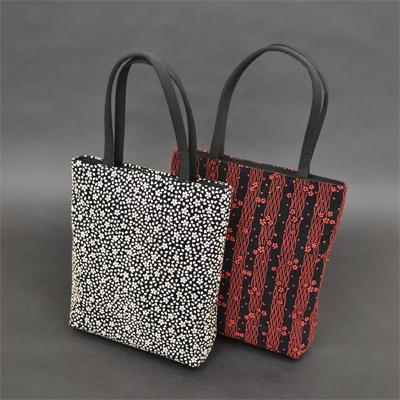 画像1: [印傳調]ファスナー付二本手バッグ(大)※柄はおまかせになります。 (1)