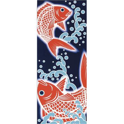 画像1: [捺染手拭い]めで鯛 (1)