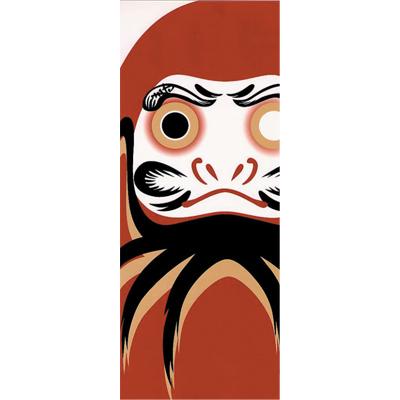 画像1: [捺染手拭い]だるま (1)