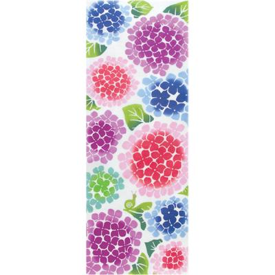 画像1: [和布華:注染手拭い]紫陽花とカタツムリ (1)