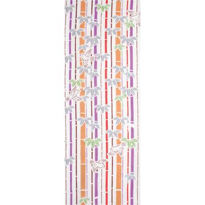 画像1: [和布華:注染手拭い]竹とすずめ (1)