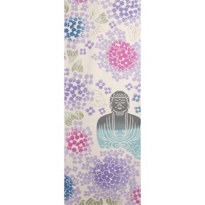 画像1: [和布華:注染手拭い]紫陽花と大仏 (1)