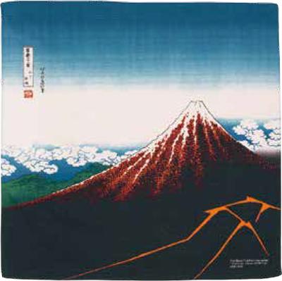 画像1: [ふろしきコミュニケーション:チーフ隅田川]黒富士(山下白雨)茶 (1)