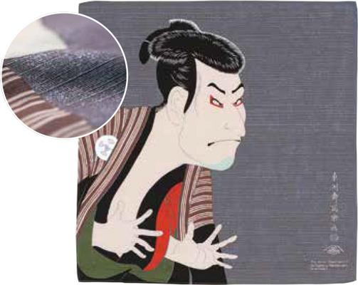 画像1: [ふろしきコミュニケーション:チーフ隅田川]写楽グレー (1)