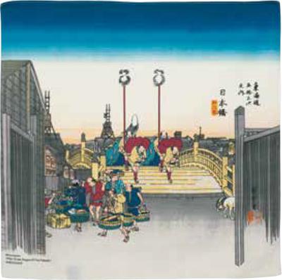 画像1: [ふろしきコミュニケーション:チーフ隅田川]日本橋ベージュ (1)