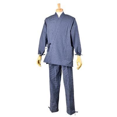 画像1: [紳士作務衣]久留米・紬縞 (1)