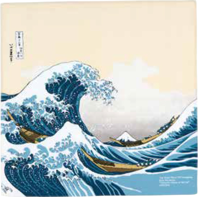 画像1: [ふろしきコミュニケーション:チーフ隅田川]波裏に富士ベージュ (1)