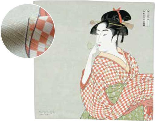 画像1: [ふろしきコミュニケーション:チーフ隅田川]ビードロを吹く女 (1)