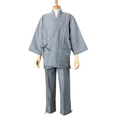 画像1: [紳士作務衣] 本麻・無地 (1)