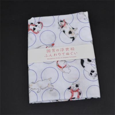画像1: [二重ガーゼ手拭い:国芳の浮世絵]ねこ尽くし【猫シリーズ】 (1)