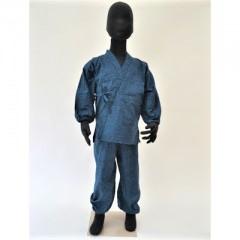 画像1: [子供作務衣] 紺 (1)