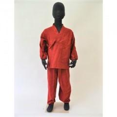 画像1: [子供作務衣] 赤 (1)