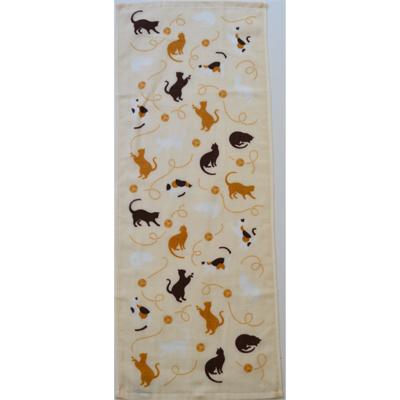 画像1: [フェイスタオル] 撫子多織 猫  (1)