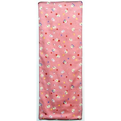 画像1: [ガーゼ手拭い] ねこ柄  ピンク5枚セット (1)