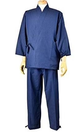 画像1: [紳士作務衣]久留米・民芸シーチング (1)