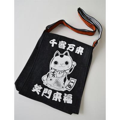 画像1: [ショルダーバッグ] 千客万来・笑門来福 招き猫 ショルダーバッグ (1)