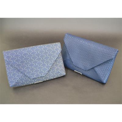 左 紺×白:青海波、右 紺×黒:瓢箪