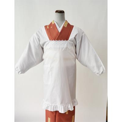 画像1: [和装割烹着] 角衿 裾角 (1)
