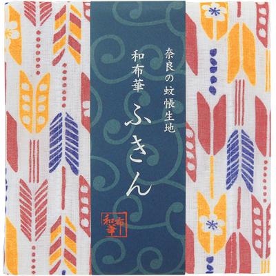 画像1: [和布華:蚊帳ふきん]桜矢絣【奈良県産蚊帳生地使用】 (1)