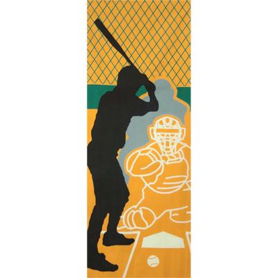 画像1: [和布華:注染手拭い]野球 (1)