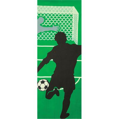 画像1: [和布華:注染手拭い]サッカー (1)