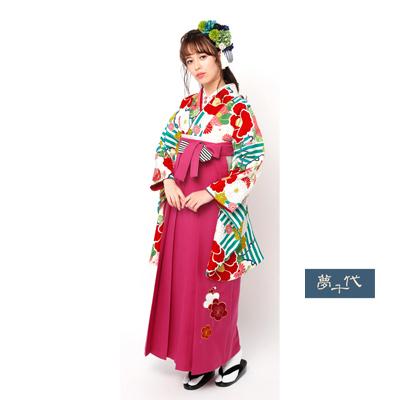 画像1: 【卒業衣装】 【夢千代】 袴  ピンク (1)