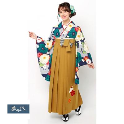 画像1: 【卒業衣装】 【夢千代】 袴  金茶 (1)