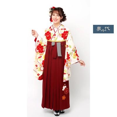 画像1: 【卒業衣装】 【夢千代】 袴  赤 (1)