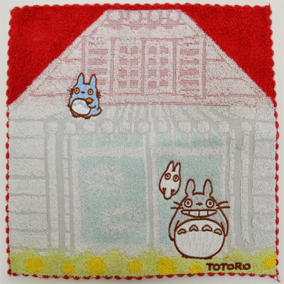 画像1: 【となりのトトロ】 ミニタオル 家の前のトトロ (1)