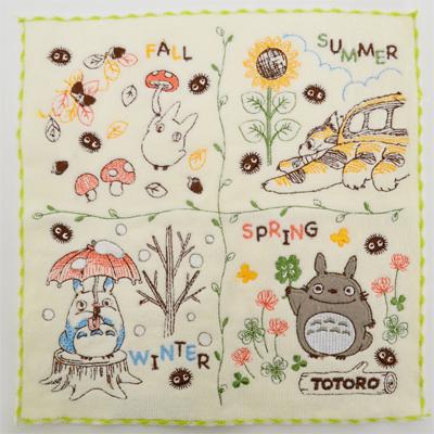 画像1: 【となりのトトロ】 ミニタオル 自然の四季 (1)