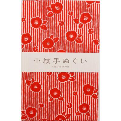 画像1: [泉紅梅:小紋手拭]椿 (1)