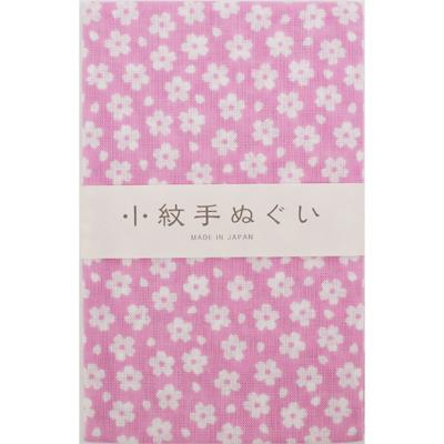 画像1: [泉紅梅:小紋手拭]薄桜 (1)